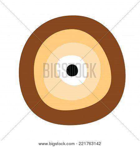 greek evil eye vector in brown colors - symbol of protection