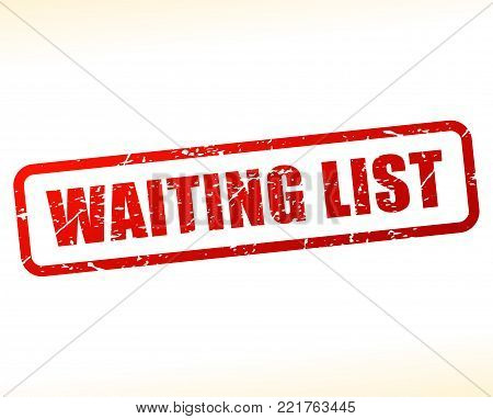 Illustration of waiting list red text stamp