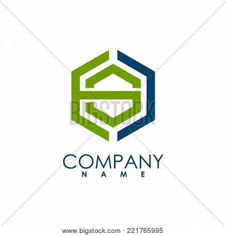 Hexagon - US hexagon Vector logo concept illustration. Hexagon geometric polygonal logo. Hexagon abstract logo. Vector logo template. Design element. US letter style