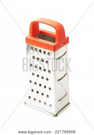 Metal food grater utensil isolated over the white background