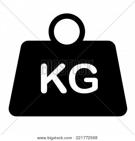weight icon on white background. flat style. weight symbol. weight kilogram sign.
