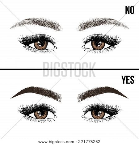 Lash Brow Business Card Or Logo Template. Business Card With Woman Eye Logo. Beautiful Fashion Open
