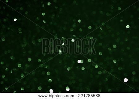 many bokeh circle light  for green background