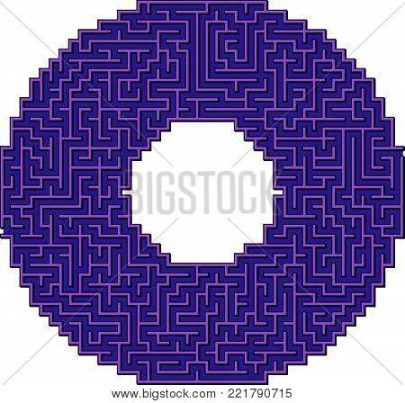 Vector Ring Maze for Children - Labyrinth Illustration