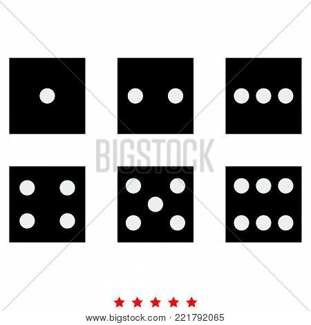 Dice nubes icon  Different color  It is imple style  .