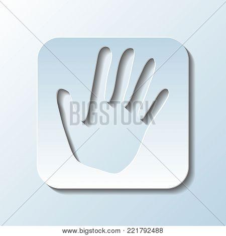 Paper Carved  Simbol of Palm   - Vector Illustration