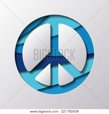 Paper Carved Symbol of  Peace   - Vector Illustration