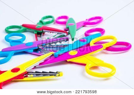 children's creativity cut shaped scissors, colorful scissors, fancy scissors