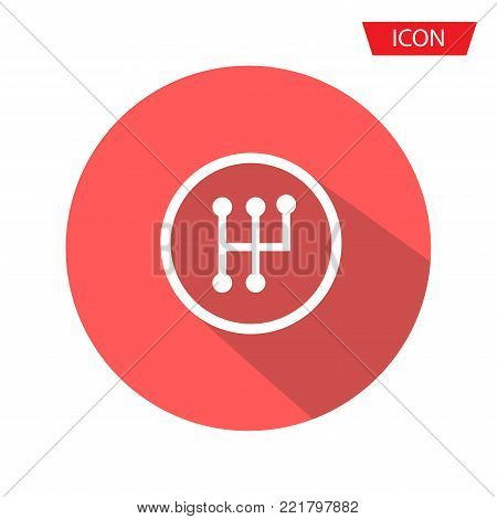 gearbox isolated minimal icon. transmission line vector icon isolated on background.
