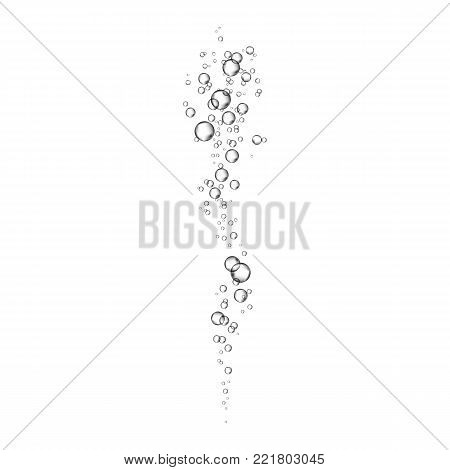 Underwater Fizzing Oxygen  Bubbles On Transparent  Background.