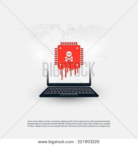 Laptop Equipped with a Processor Affected by Meltdown & Spectre Critical Security Vulnerabilities, Which Enable Cyber Attacks, Password or Personal Data Leak on Computers and Mobile Devices