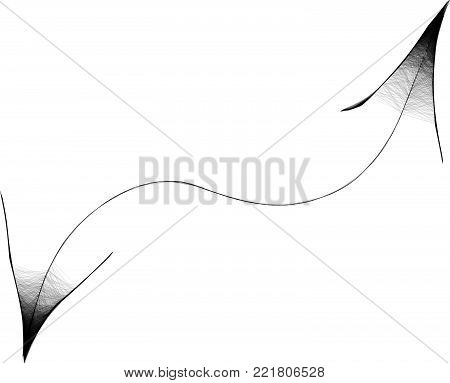 Arachnoid Web Arrow -  Gloomy Halloween Concept -  Drawing Sketch Vector Illustration