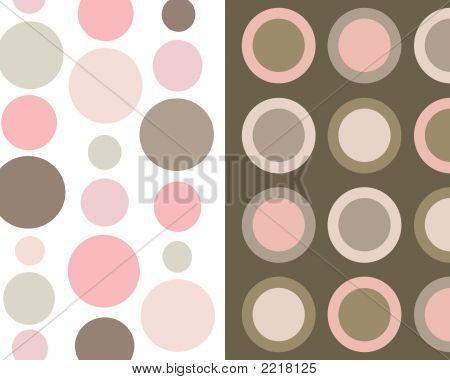 Retro Brown And Pink Circles