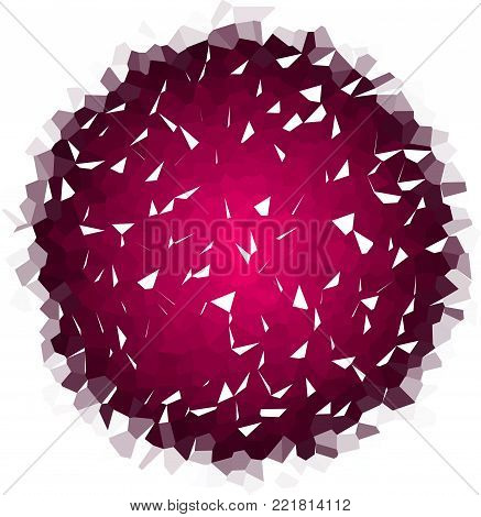 Vector  Purple Mosaic Smalt Majolica Shattered Round Element