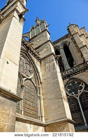 The Basilica of Saint Denis, Paris, France.
