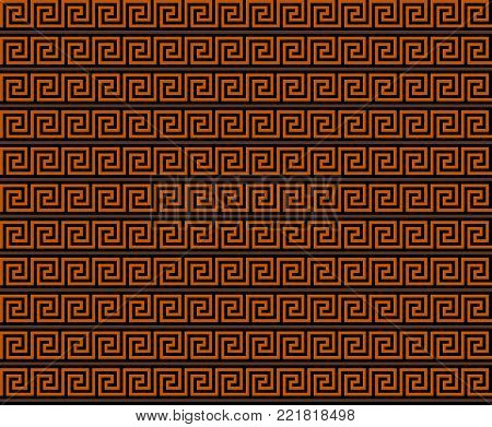 Ancient Greek Decorative Seamless Pattern Meander - Abstract Vector  Repeated Motif