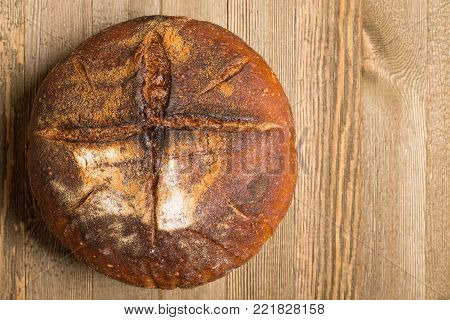 Homemade Bread With Cross