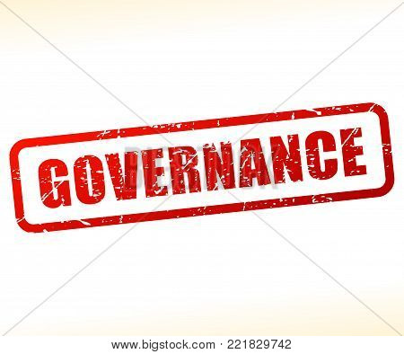 Illustration of governance text stamp concept design