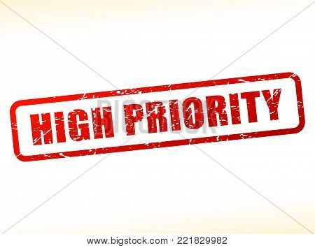 Illustration of high priority text stamp concept