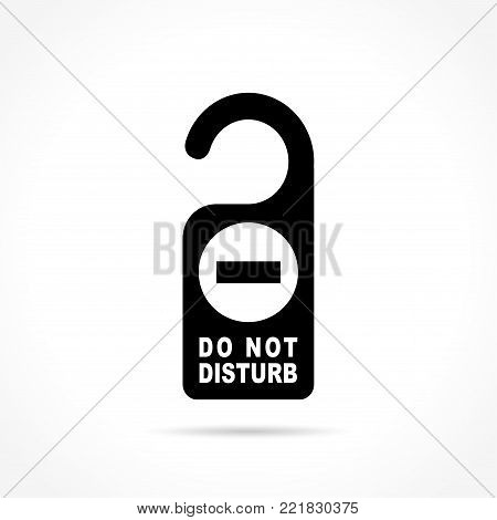Illustration of do not disturb icon on white background