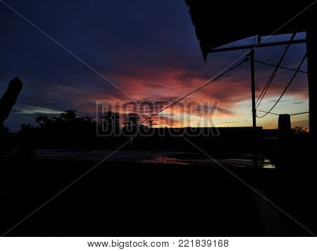 Sunset. Beautiful sunset. Gold sunset. Picture sunset. sunset background. Amazing sunset picture. Summer sunset.
