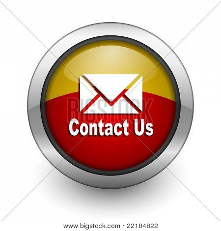 contact us red and yellow aqua button