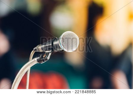 Microphone In Meeting Room Use For Amplify Talk