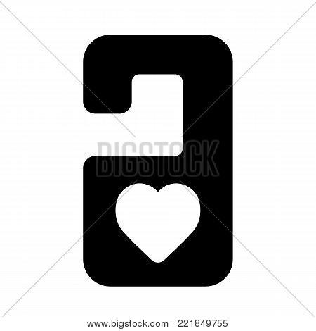 do not disturb door hanger. Vector simple icon. Solid design.