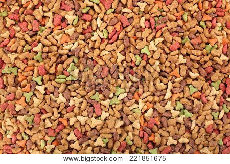 Backgrounds and Textured - Pelleted cat food, dog food.