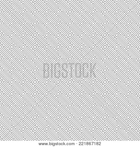 Vector seamless pattern. Simple modern texture with constant repetition diagonal contour thin lines. Geometrical background. Contemporary design.