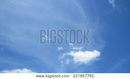 blue sky with tinny clouds. can be used as background.