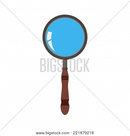 Glass magnifying icon vector search zoom illustration. Magnifier symbol magnify look research lens find loupe sign optical