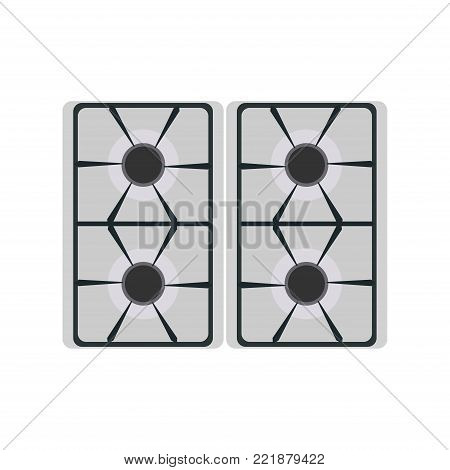 Gas stove icon vector burner kitchen illustration oven fire isolated heat food cooker flame. Cooking home energy equipment hot