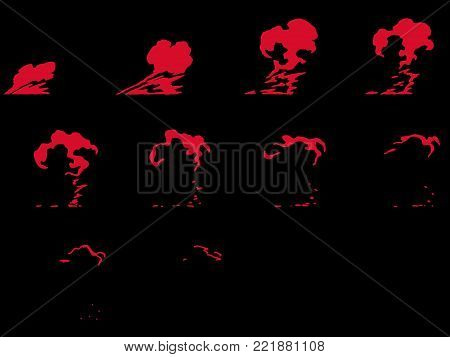 Sprite sheet of a explosion. Animation for game or cartoon. 1024x1024. Ready for games, Crytech, Unreal Engine, Real Tournament and other game engines. poster