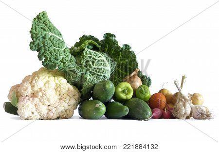 vegetables bio still life isolated food theme