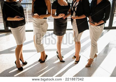 self-confident business woman concept. lifestyle of hardworking people. successful workers.