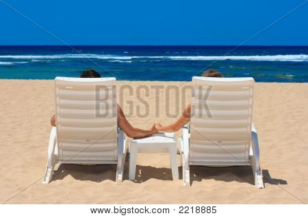 Couple In Beach Chairs