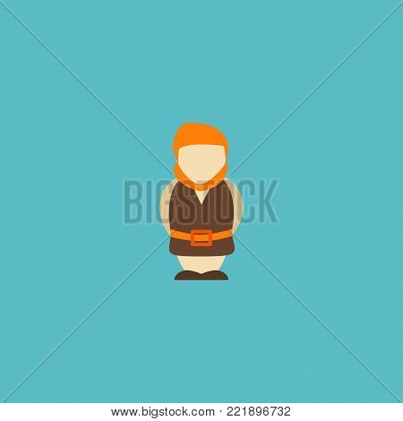 Icon flat giant element. Vector illustration of icon flat huge man isolated on clean background. Can be used as giant, huge and monster symbols.
