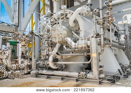 Gas turbine compressor, centrifugal and multi stage type of gas compressor and piping, instrument tubing used in oil and gas industry.