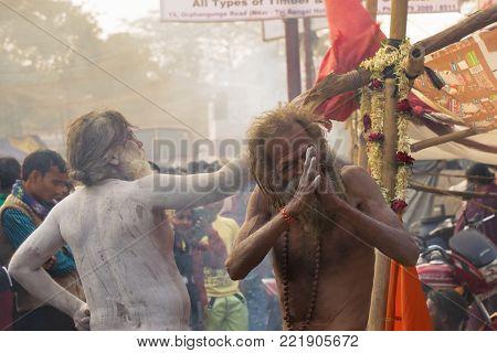 Indian Sadhu Smoking Ganja