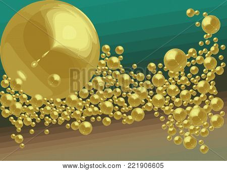 Vector with bubbles and interweaving image. Made for writing surface, book illustration, jewelry store, christmas and new year festival, party ticket invite, fashion showroom, shop