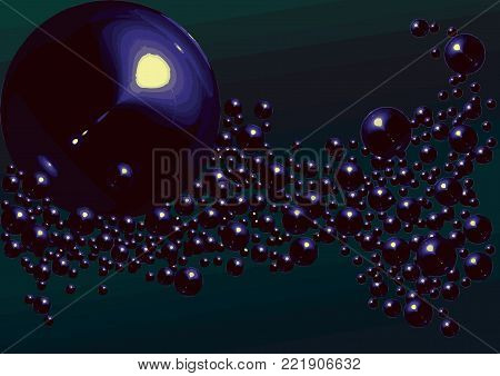 Dark violet vector with bubbles and interweaving image. Made for writing surface, book illustration, jewelry store, christmas and new year festival, party ticket invite, fashion showroom, shop