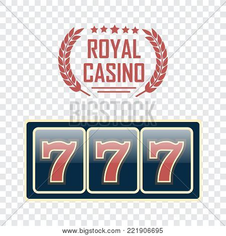 Lucky seven jackpot. Casino vector sign set