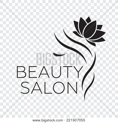 Logo template for hair salon, beauty salon, cosmetic procedures, spa center. Beauty logo for hair salon