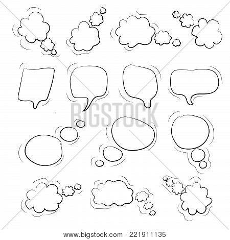 Speech big buble set . Vector illustration EPS10
