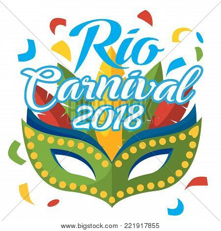 mask carnival rio de janeiro party logo, mardi gras mask