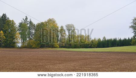 vie of autumn landscape, southern Bohemia . Czech Republic