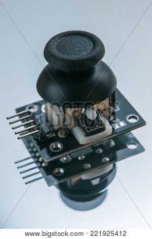 remote control part on white background. device microcircuit technology for controlling robots and other electronics