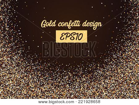 Gold And Glitter Glow Birthday Party Invitations