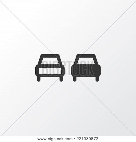 No overtaking icon symbol. Premium quality isolated beware element in trendy style. poster